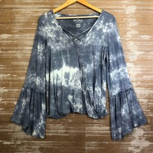 American Eagle Soft and Sexy Tie Dye Blouse Sz M